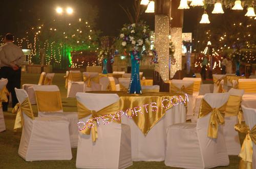 WEDDING CHAIR COVER WITH SATIN SASHAS 3709