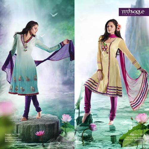 Net Embroidered designer Salwar Suit