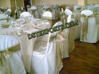 Wedding Lycra Chair Covers Wth Satin Sasha