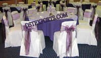 Wedding Chair Cover With Purple Tissue Sashas