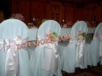 Wedding Chair Cover With Pink Sashas