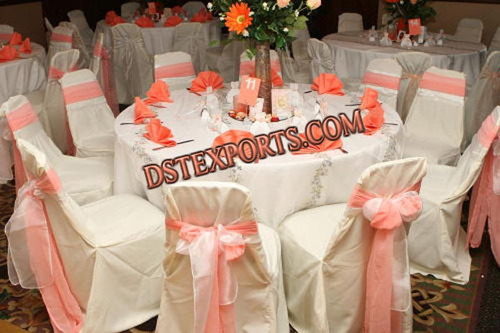 Wedding Chair Cover With Tissue Sashas