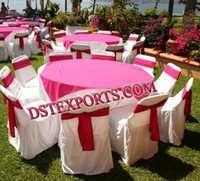 Wedding Satin Table Clothes And Sashas