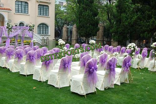 Banquet Chair Cover With Organza Sashas