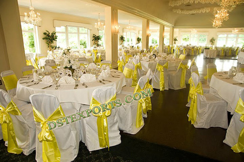 Elegent Banquet Chair Cover With Sashas