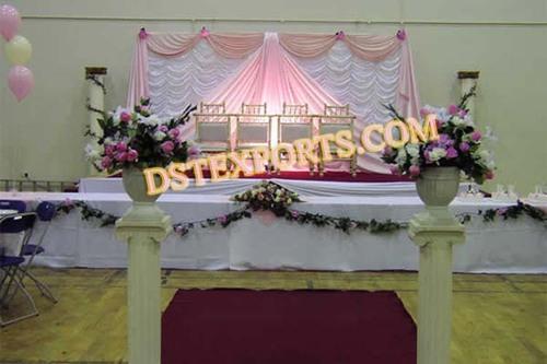 Pink Wedding Stage Backdrop