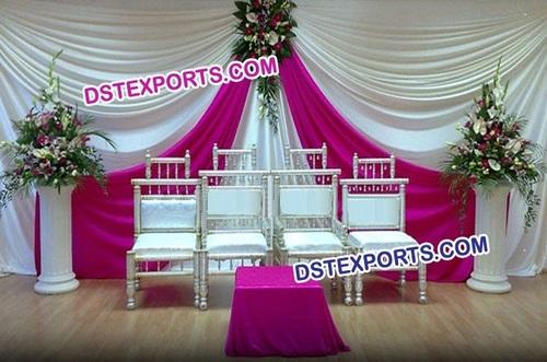 Indian Wedding White Rani Colour Backdrop