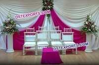 Indian Wedding White Rani Colour Backdrop
