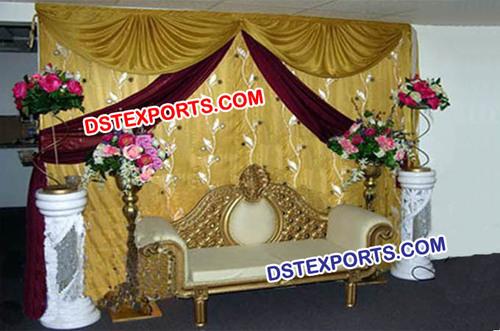 Wedding Golden Stage Backdrop