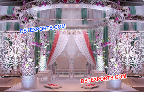 Latest Wedding Crystal Mandap Flower Decors