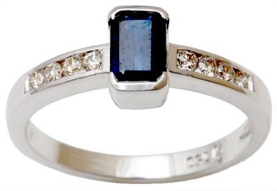 Pure Gold Diamond Gemstone Natural Saphire Ring
