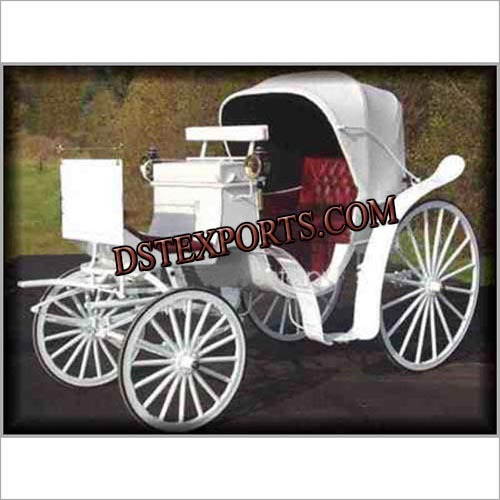 White Victoria Wedding Carriages