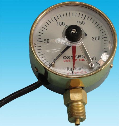 100 mm. Dia. Oxygen contact gauge(0-10 kg.) 3091