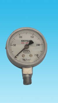 63 MM. Dia Oxygen Pressure Gauge (0-250 Kg) 3088
