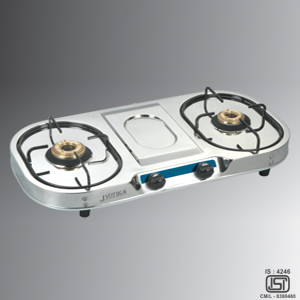 Double Burner SS Gas Stove