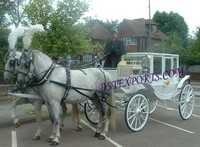WEDDING WHITE COVERED CARRIAGE