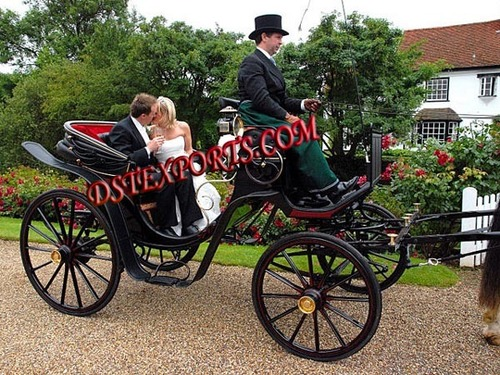Wedding Black Victoria Carriage
