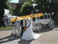 Wedding White Victroia Carriage
