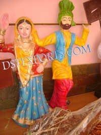 Wedding Bhangra Statues
