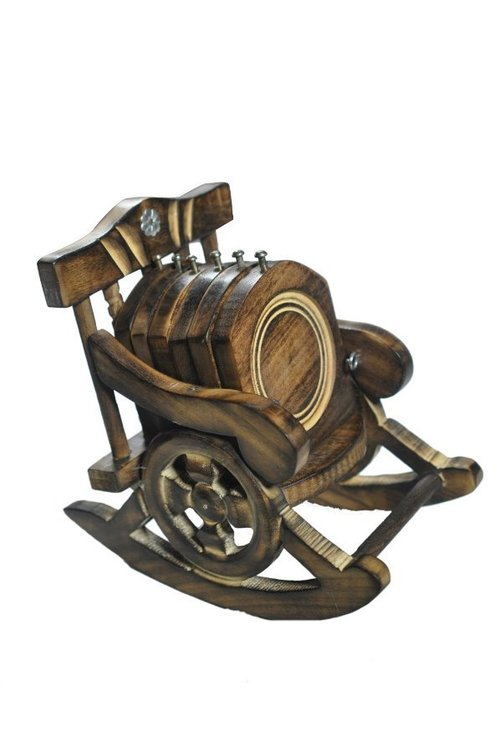Coasters in Delightful Rocking Chair Holder