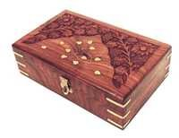 Intricately Hand Carved Decorative Jewelry Box