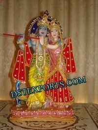 Colourful Radha Krishan Statue