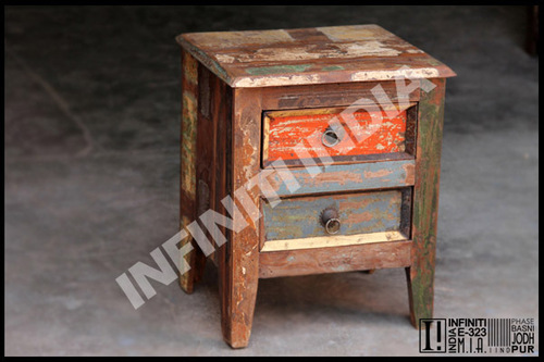 Reclaimed Wooden Bedside