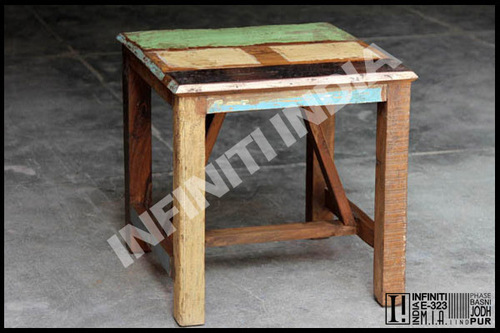 Reclaimed Wooden Sidetable