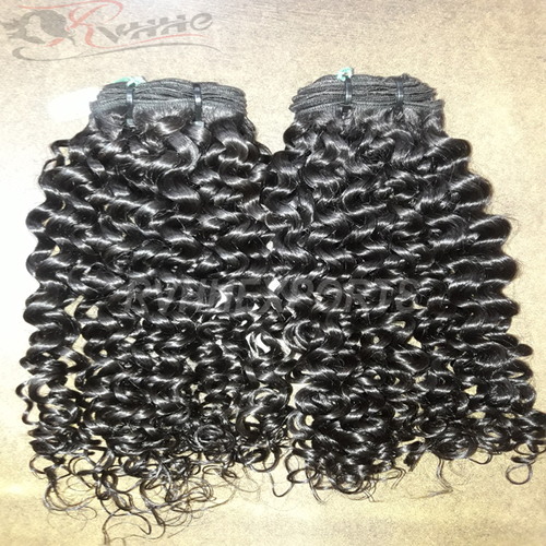 Indian Remy Curly Human Hair Weft