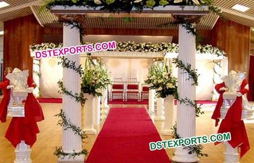 Wedding Roman Pillar Gate