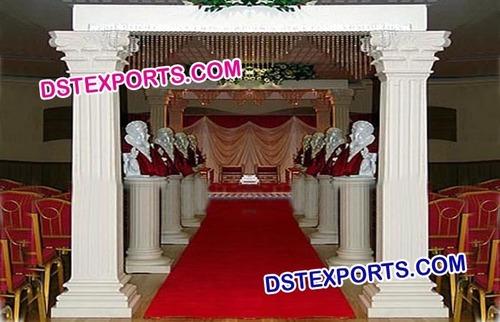 Wedding White Roman Welcome Gate