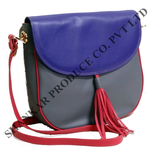 Leather Bi-color Designer Body Bag
