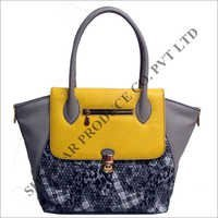 Combo Leather Tote Bag