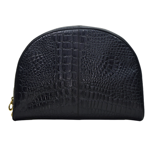 Croco Printed Designer's Leather Clutch Bag