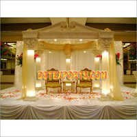 Decorated Lighted Wedding Mandap