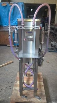 Semi Twin Head Liquid Filling Machine
