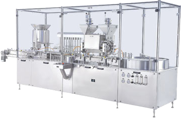 Injectable Dry Powder Filling Machine with Vial Liquid Filling & Rubber Stoppering Machine