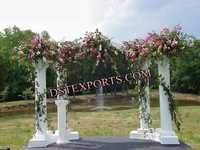 Wedding Out Door Decoration With Pillars