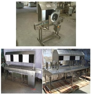 Twin Track seated Inspection conveyor