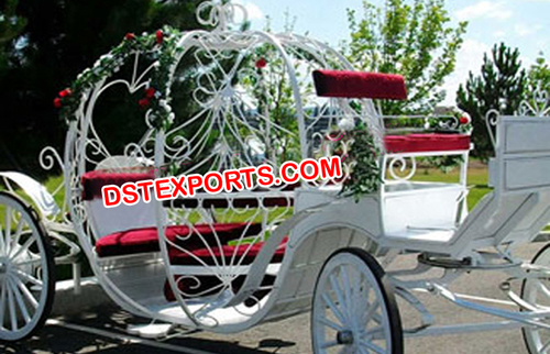 New White Red Cinderala Carriage