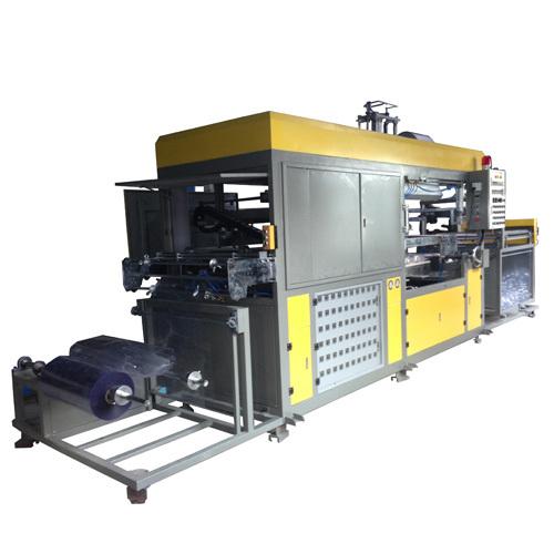 Fully auto plastic tray vacuum forming machine