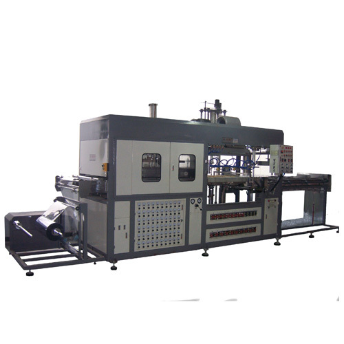 Disposable plastic tray forming machine