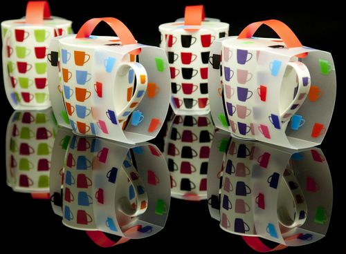 Coffee Mug covered in a fabulous matching sleeve