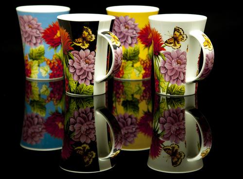 Flowers Butterfly Coffee Tea Mug