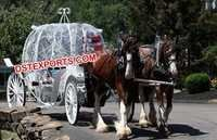 Double Horse Wedding Cinderella Carriage