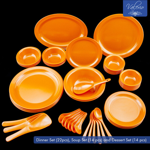 Orange Melamine 50 Pcs Dinner Set