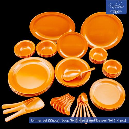 Orange Melamine 50 Pcs Dinner Set