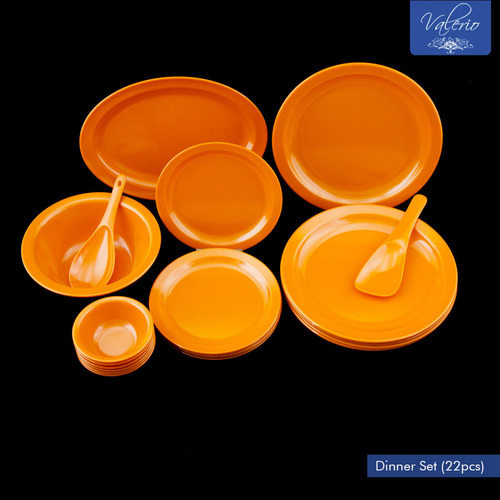 Orange Melamine 22 Pcs Dinner Set