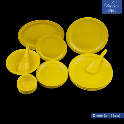 Lemon Yellow Melamine 22 Pcs Dinner Set