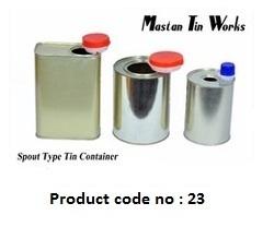 Rectangular Round Spout Tin Container